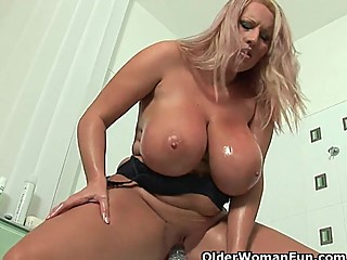 Mature soccer mom with big tits..