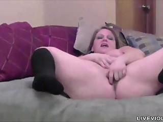 Chubby horny blonde MILF..