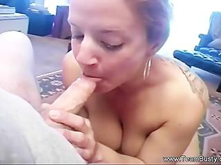 Redhead Chloe MILF Blowjob