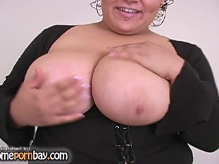 Titjob from BBW mature mom