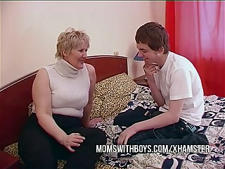 BBW Mature Mom Seduces Sons..