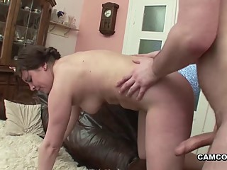 Step-dad with big dick fucks..