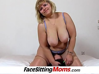 Big tits bbw mom Anna pussy..