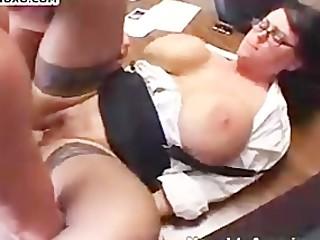 BBW secretary get a good ramming